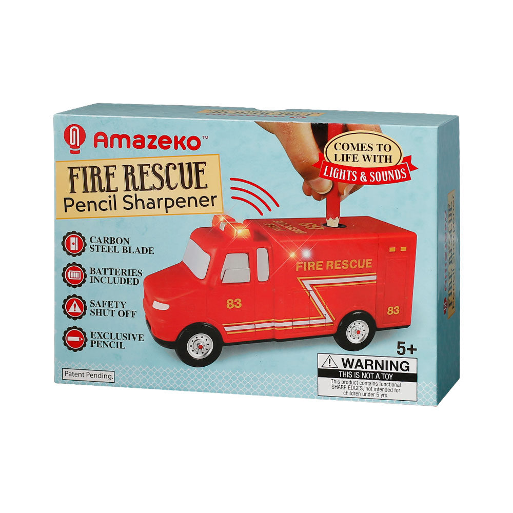 Amazeko Fire Rescue Pencil Sharpener